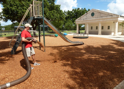 Playground Mulch Installation and Delivery Service